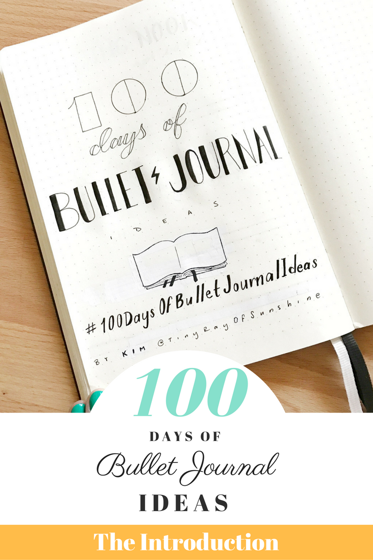 Kim's 100 Days of Bullet Journal Ideas Project!