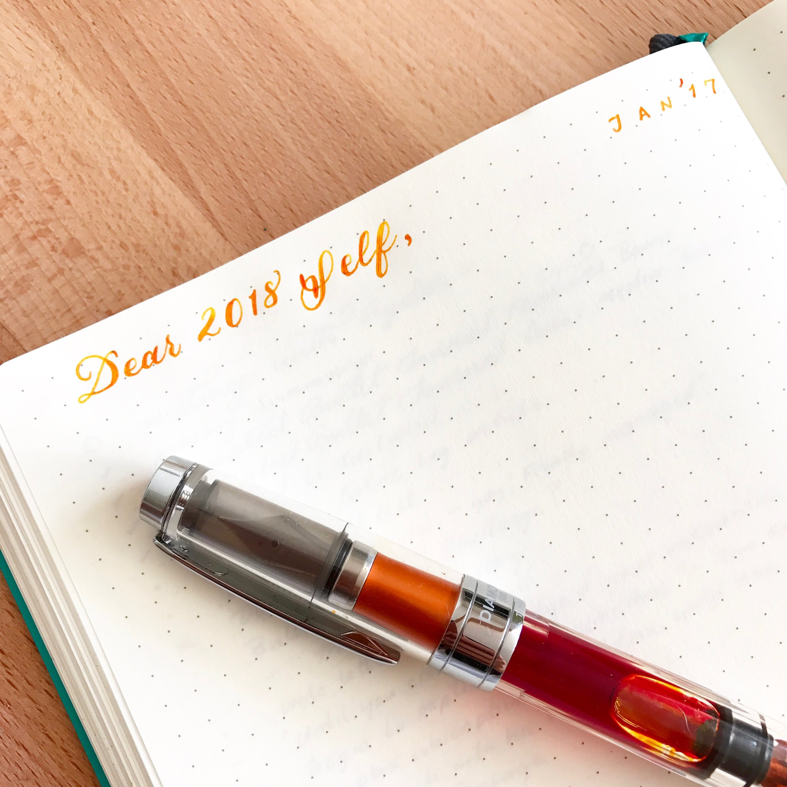 Write a letter to yourself in your Bullet Journal to capture the moment.