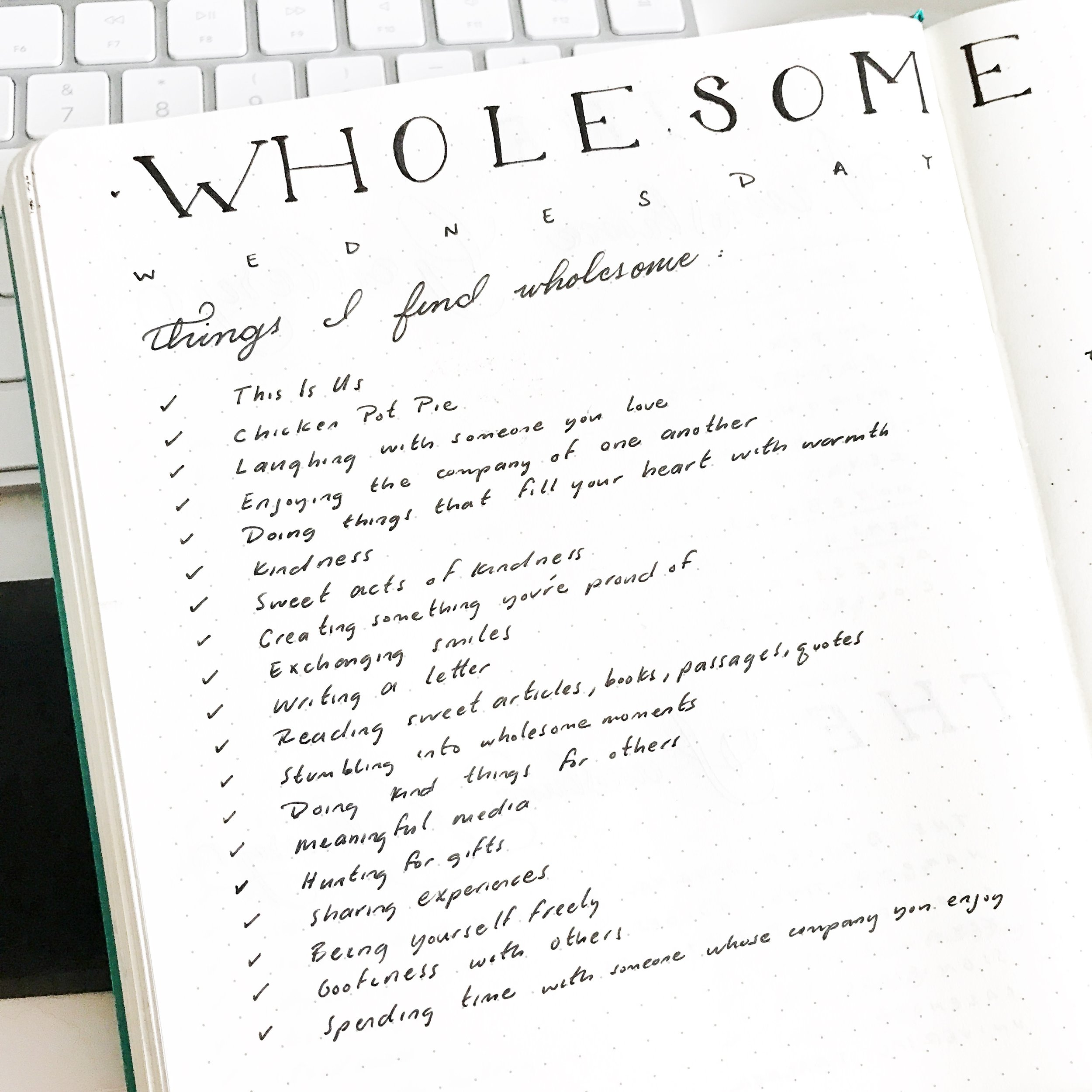 Add a Wholesome Log to Brighten Your Day with your Bullet Journal