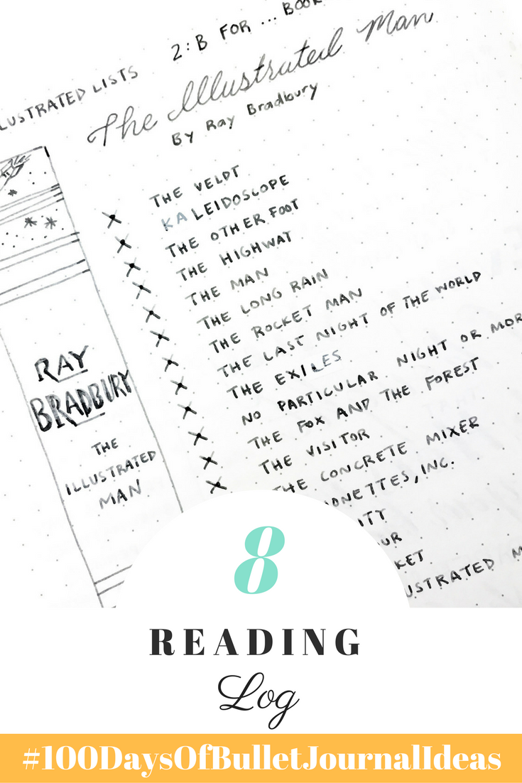 Add a reading log to your bullet journal to inspire you to read more