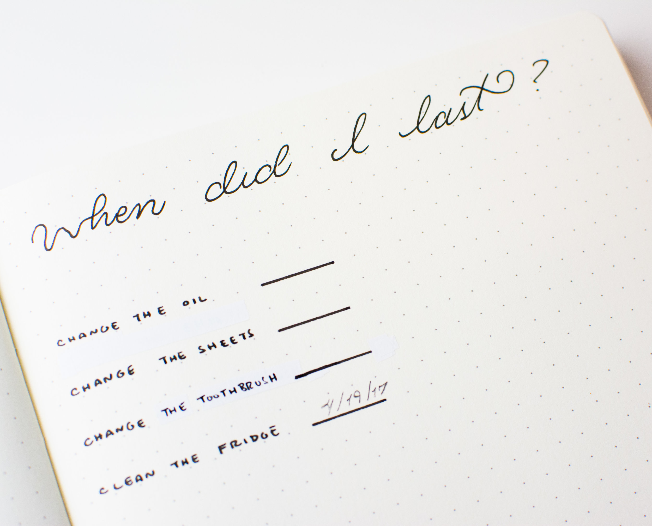 A Reusable form of the When Did I Last Log