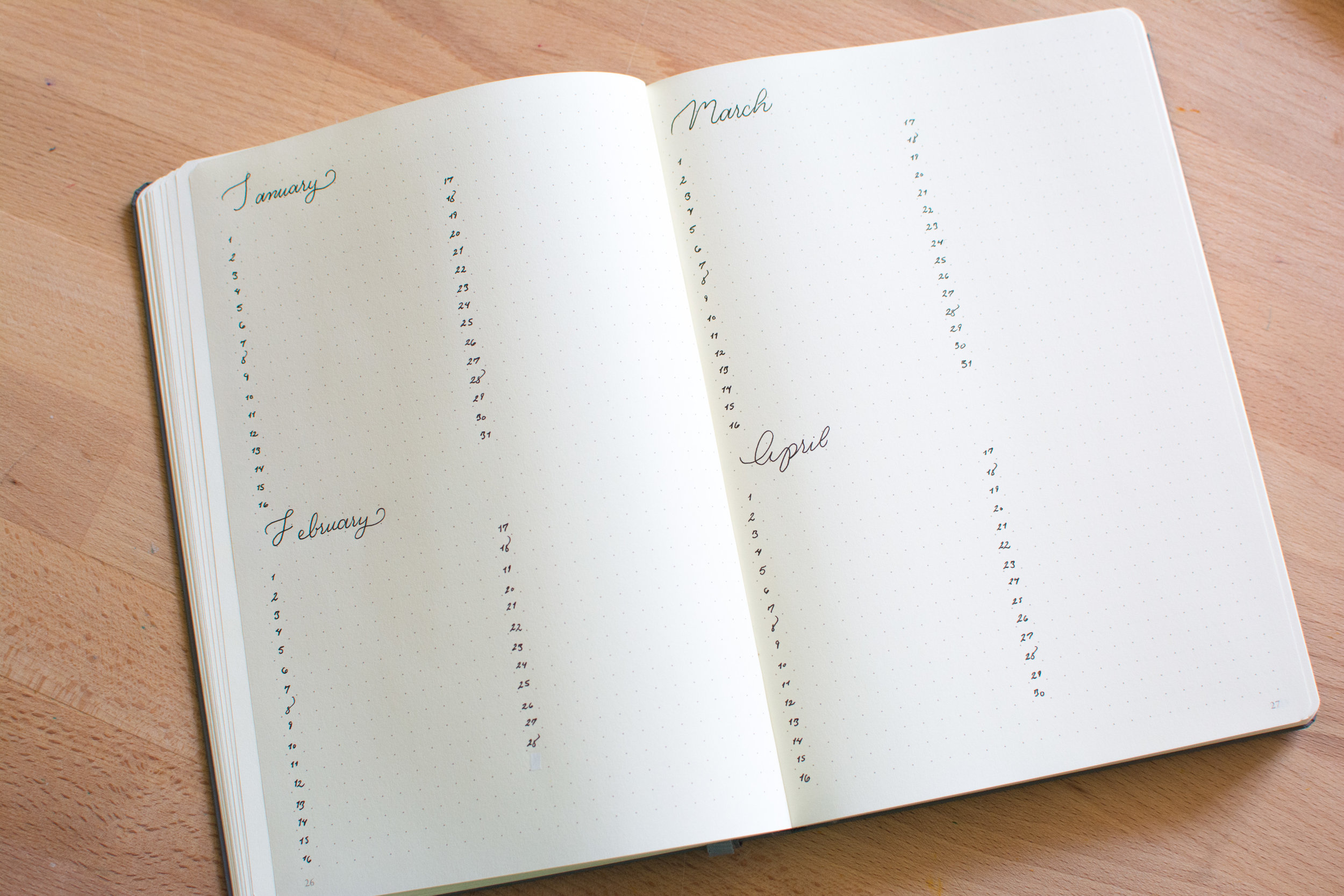 Future Log by Days, a method with enough room to write a short snippet of what's going on or to act as a memory log.