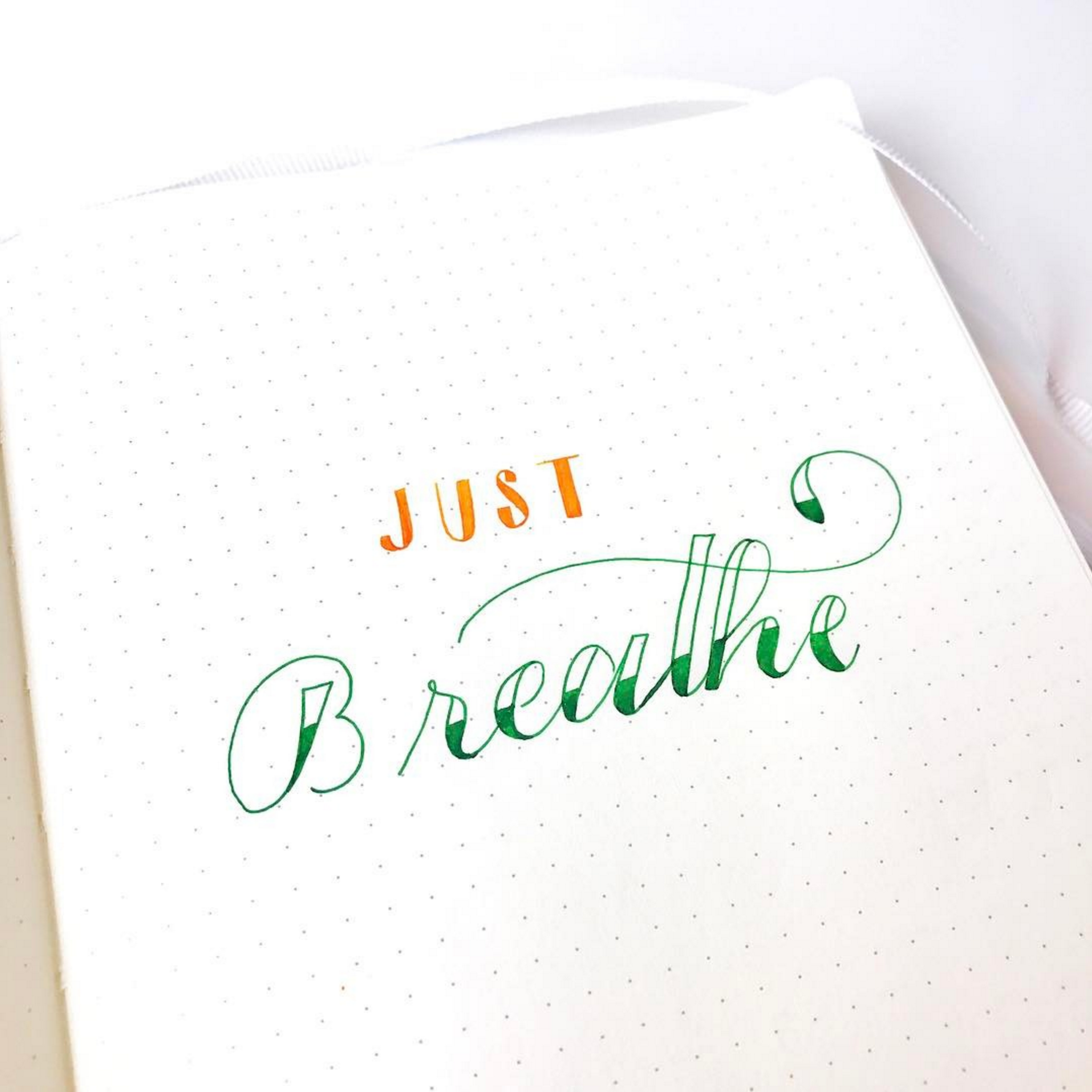 A Momentary Pause Page in your Bullet Journal can help you remember to take a moment to breathe when the going gets rough.