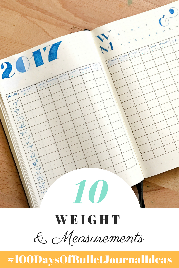 A Weight & Measurements Log can help you keep track of your fitness progress