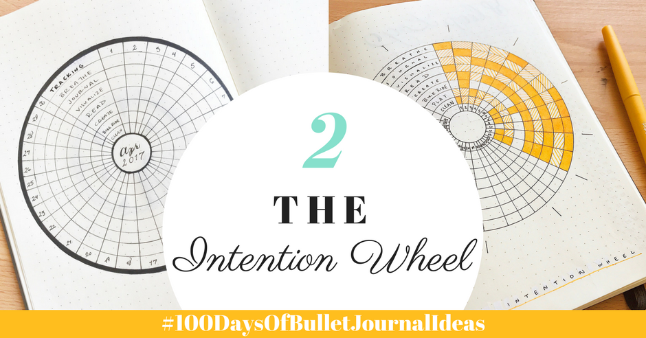100 Days Of Bullet Journal Ideas The Intention Wheel Tiny Ray of Sunshine