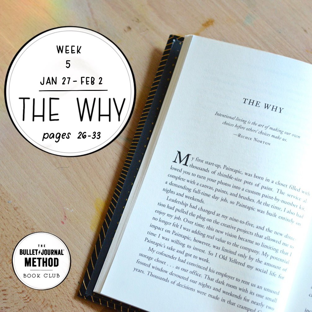 The Bullet Journal Method Book Club. Tiny Ray of Sunshine. The Why. Week 5.jpg