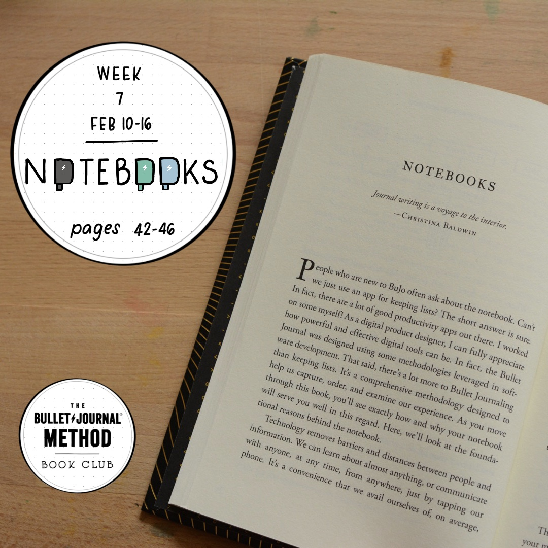 The Bullet Journal Method Book Club. Tiny Ray of Sunshine. Week 7 Notebooks.JPG