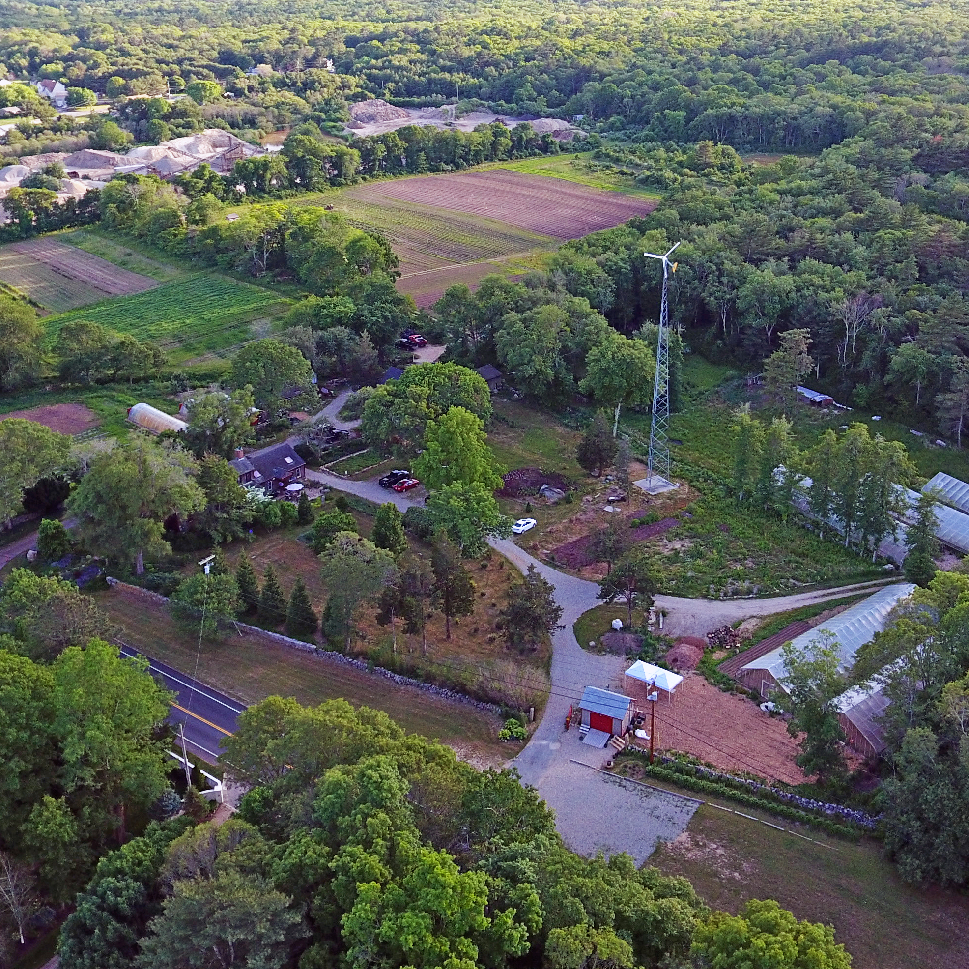 Aerial view of Silverbrook Farm