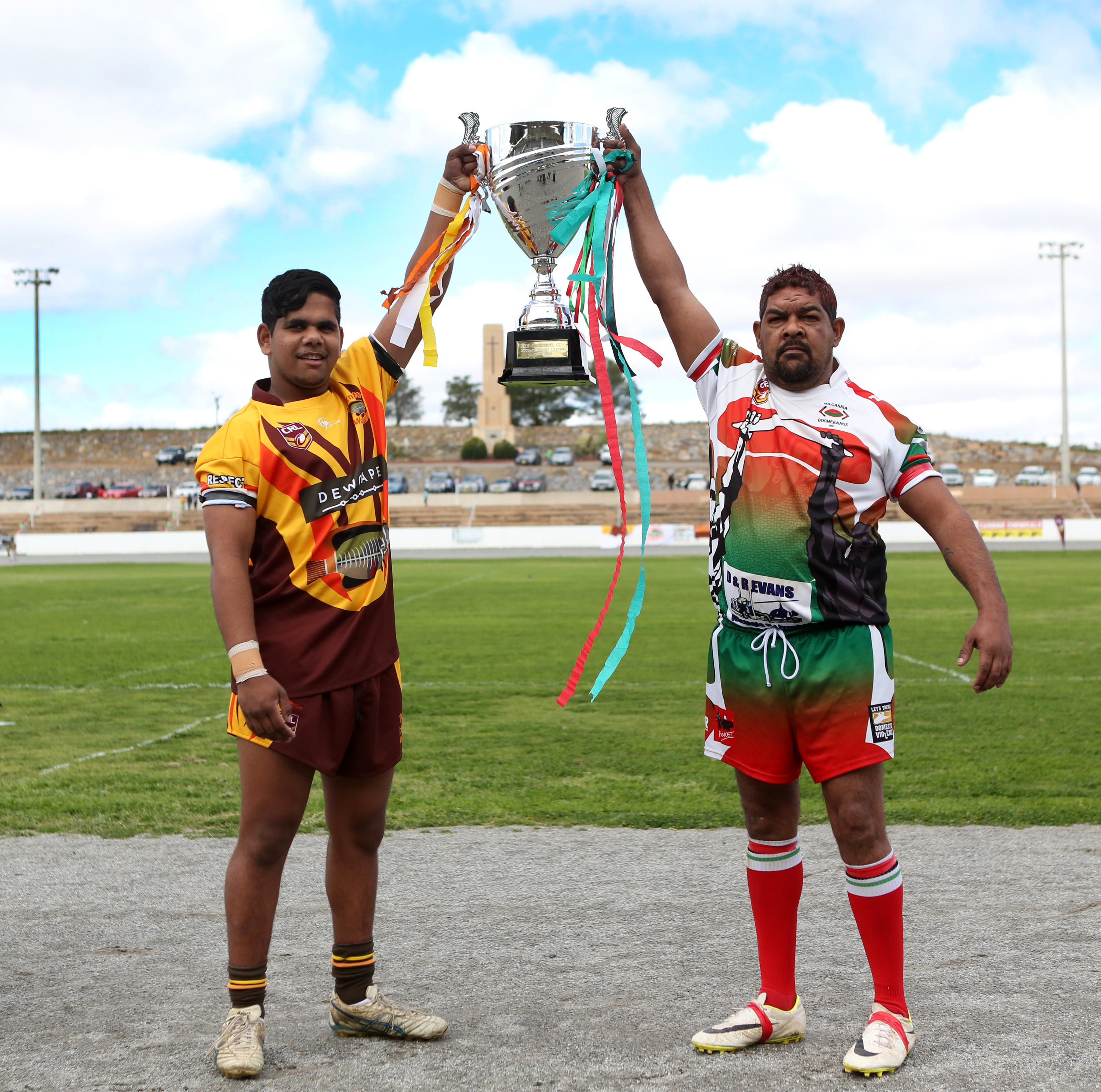 The Parntu Warriors vs. The Boomerangs in The Outback Rugby League Grand Final.