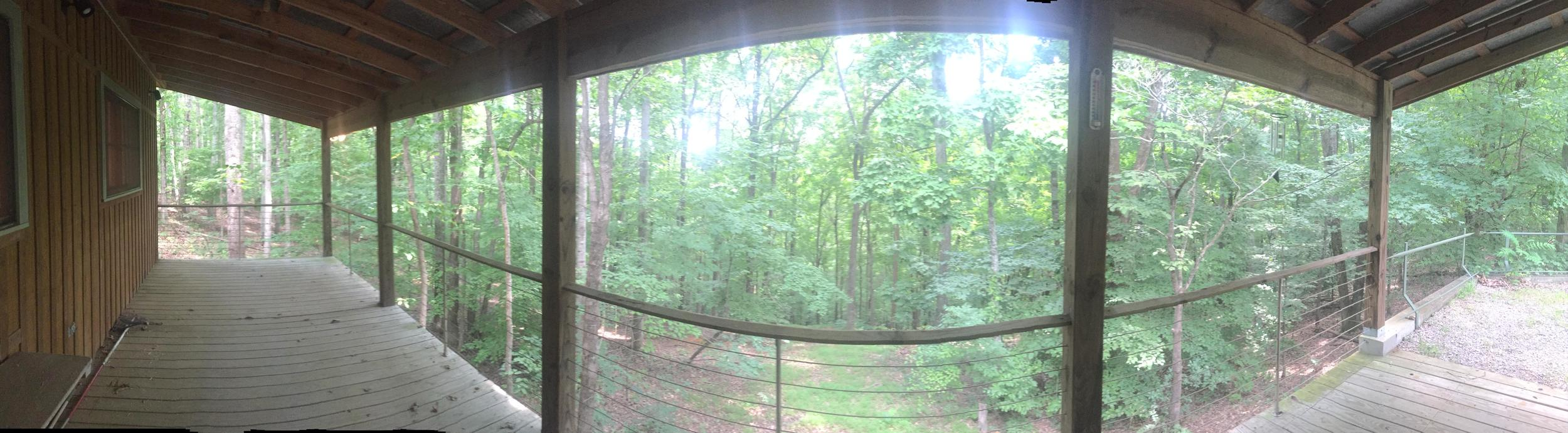 Panoramic View of the Studio porch