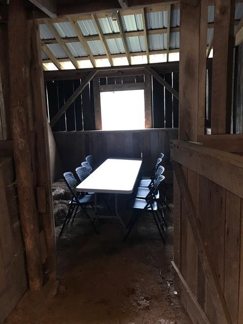 Barn table in stall.JPG