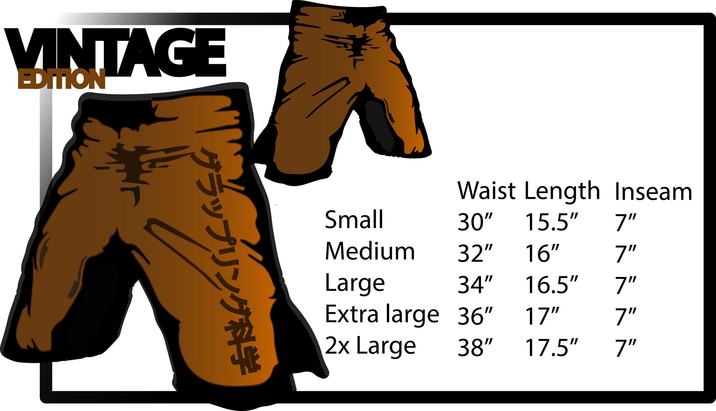 grappling shorts size chart at grappling science