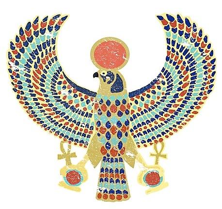 Ancient Egyptian falcon hieroglyph