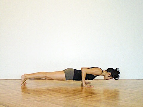 Chatarunga Dandasana, from one of my first yoga photoshoots in 2009 for a Teacher Training Manual