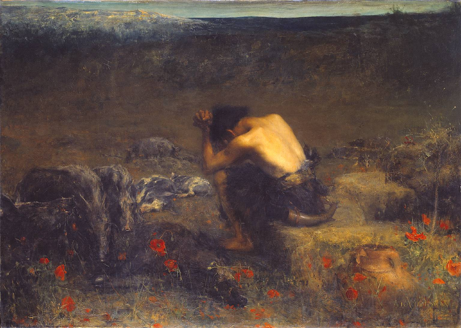 John Macallan Swan,  The Prodigal Son  (1888). Presented by the Trustees of the Chantrey Bequest 1889  http://www.tate.org.uk/art/work/N01569