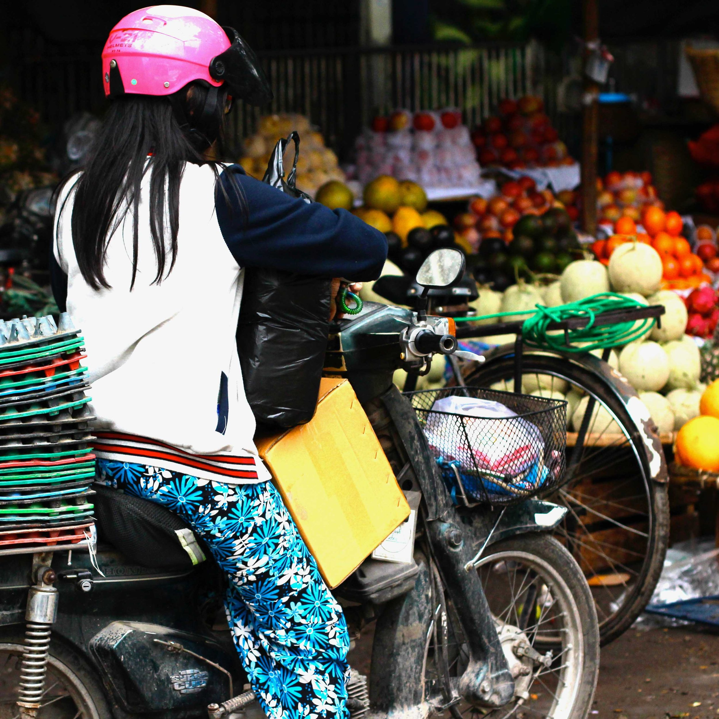 Mandalay's favored form of transportation