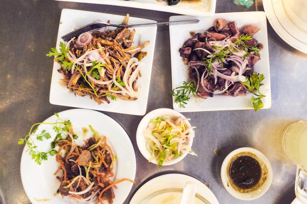 Spicy fish salads at Min Lan