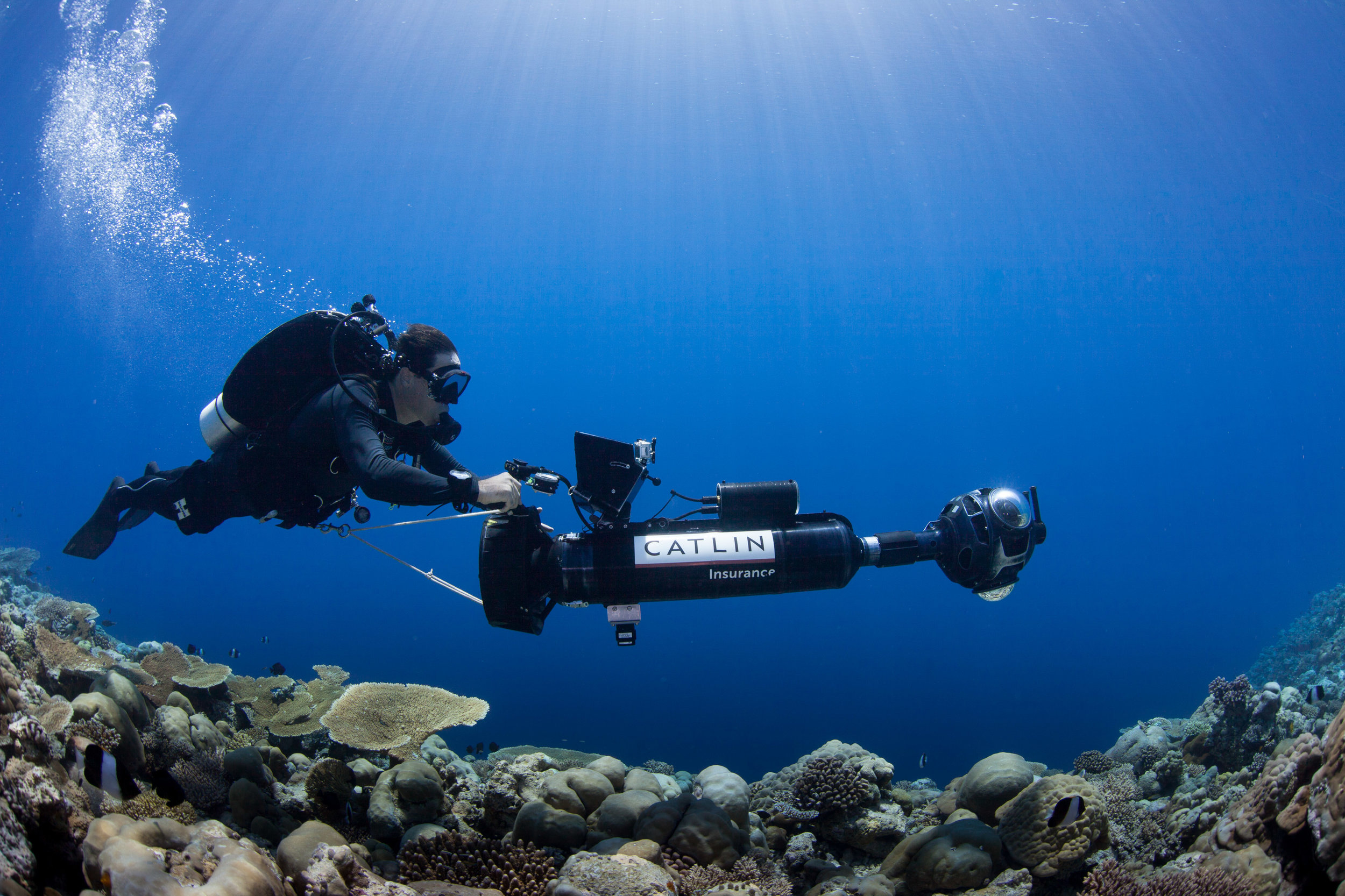 Dr. Ben Neal driving the SV-II camera in the Maldives campaign. Photo by Christophe. Bailhache.