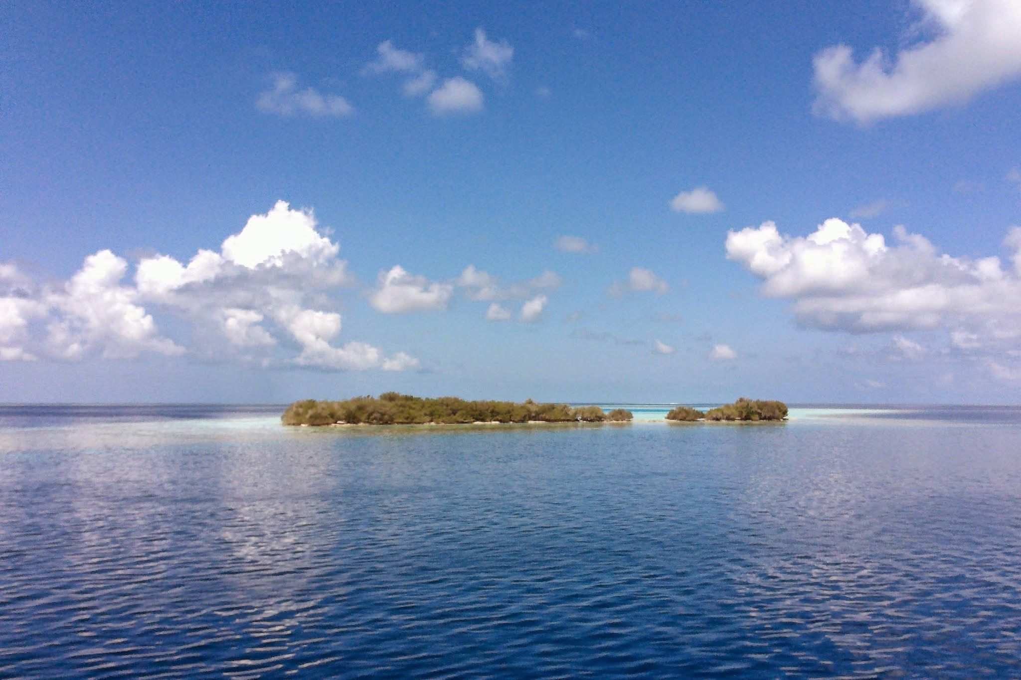 The Maldives - We surveyed countless of reefs on atolls all throughout the Maldivian archipelago over a 21 day cruise. One of the flattest places in the world - both on and off the water.