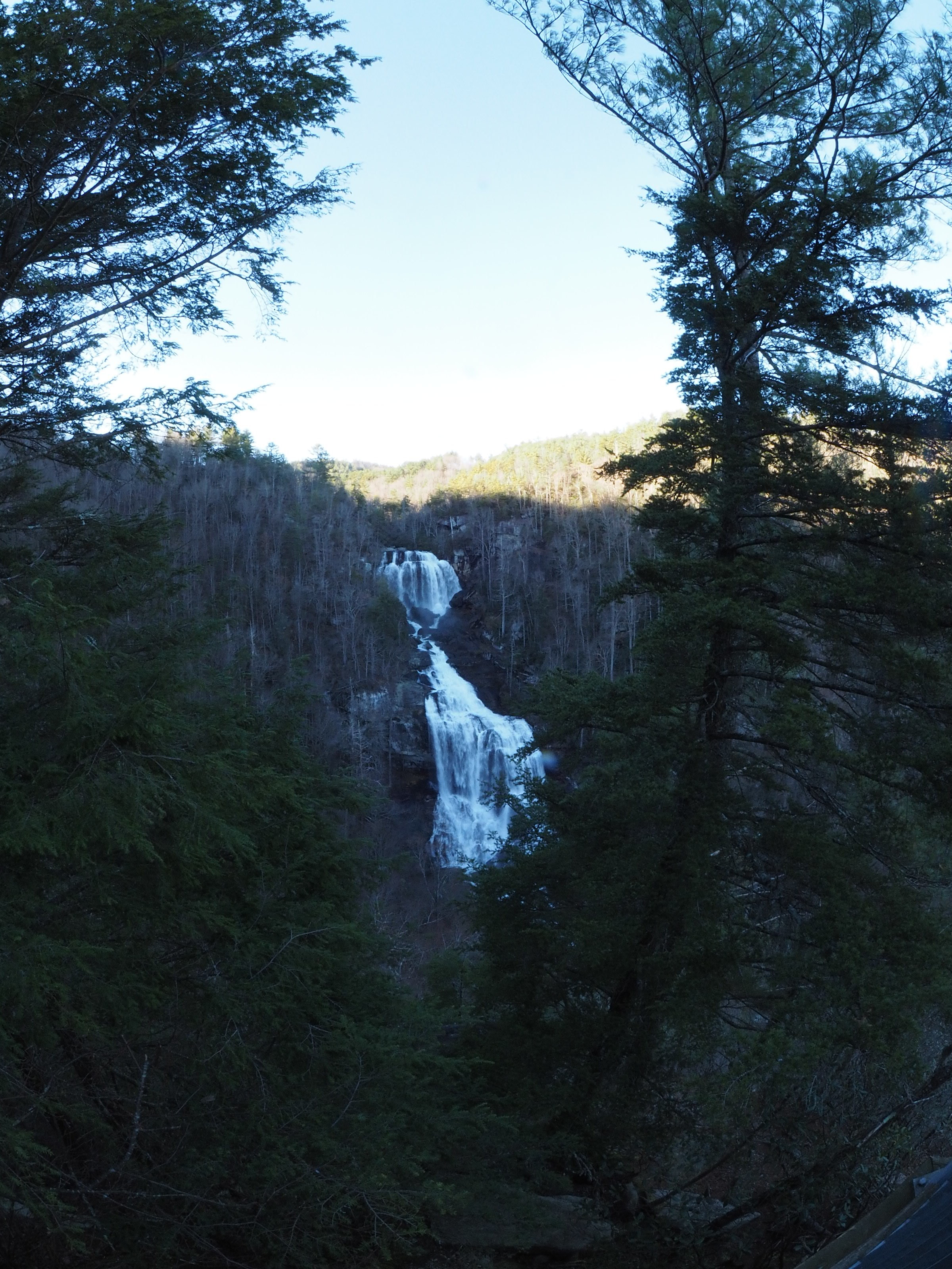 Whitewater Falls. The tallest waterfall east of the Mississippi.