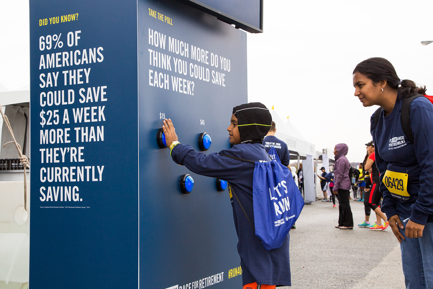In addition to the race, the event featured a series of interactive experiences designed to help people rethink their perspective on saving for retirement.