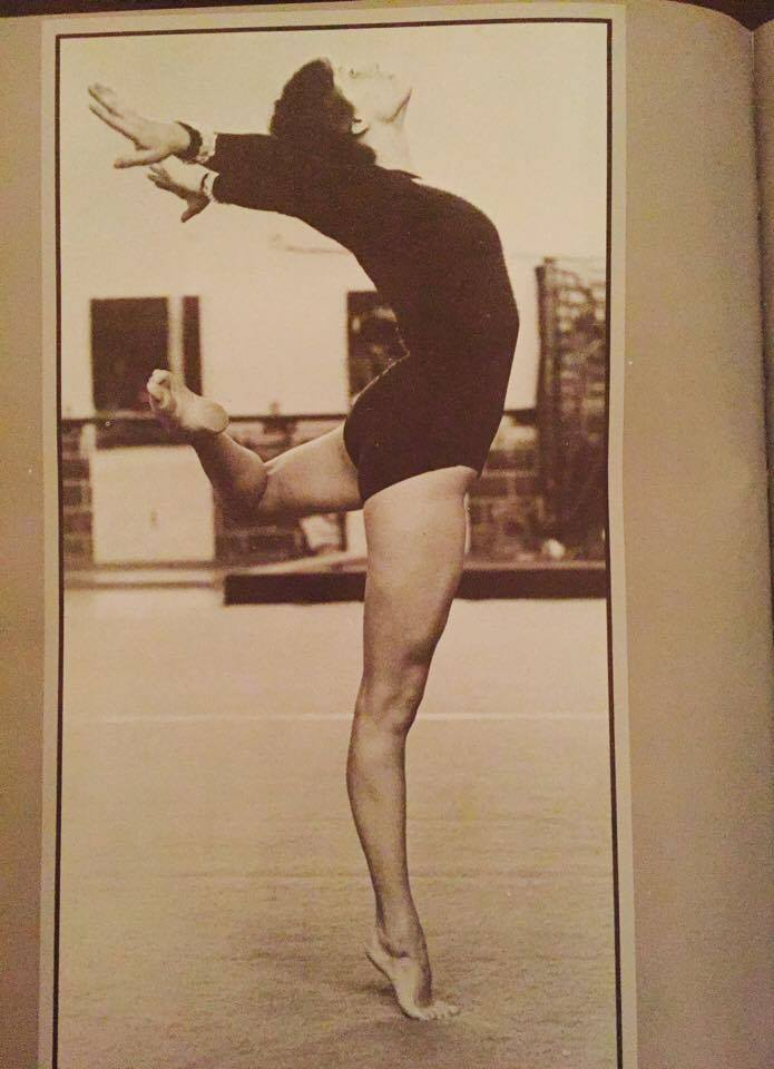 Gymnastics 1979 age 19 I have very few pictures of my years in gymnastics.  Back then there just wasn't the availability for photo's like today.