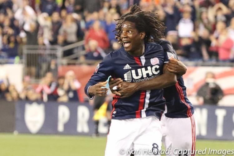 Femi celebrating his goal with teammate Kei Kamara. Photo Credit: Kari Heistad