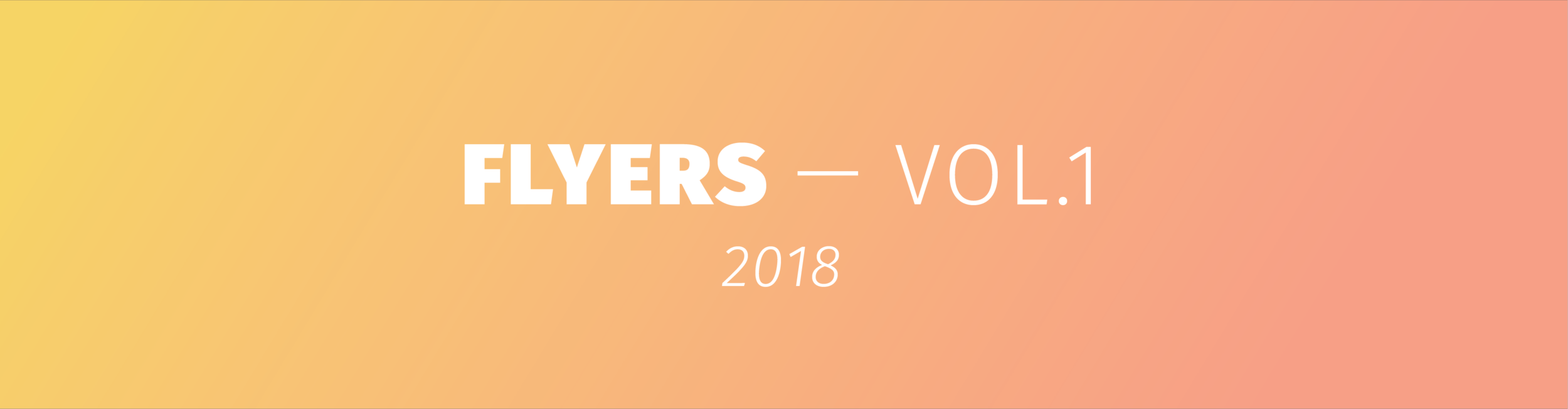 Flyers Vol.1 (2018) - Cover