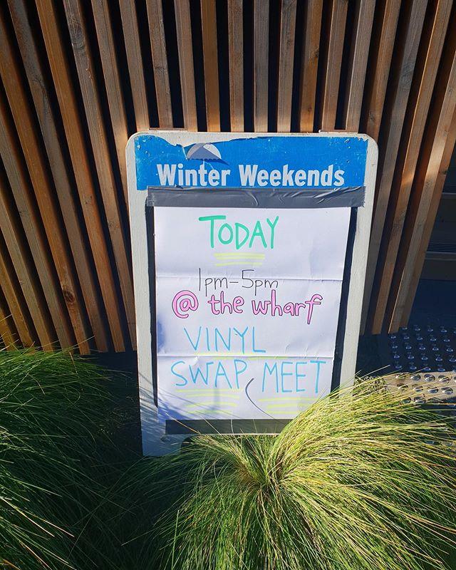Vinyl Swap Meet is STILL ON! Head down to the ward before 5 🎶 @prehistoricsounds.com.au #winterweekends #pfww #vinylswapmeet