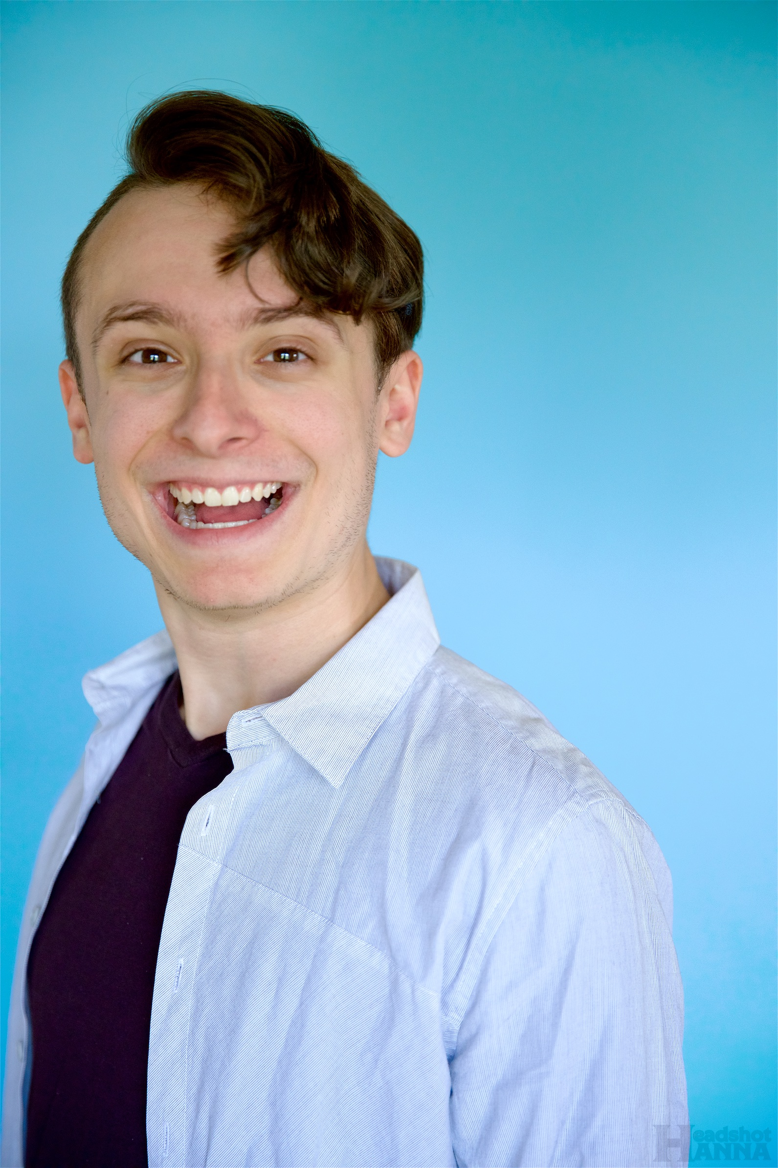 This is my excited face. And also a rejected headshot that I still kinda like.