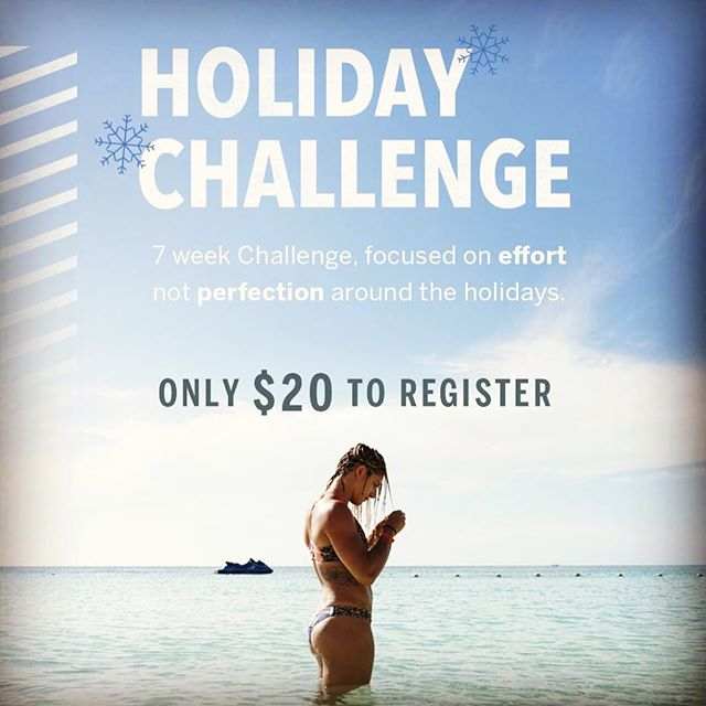 REGISTRATION ENDS TOMORROW! There will be weekly prizes, weekly infograph emails as well as challenge-exclusive tips from Nicole for surviving the holidays!  LINK IS IN OUR BIO! 👆🏾😜