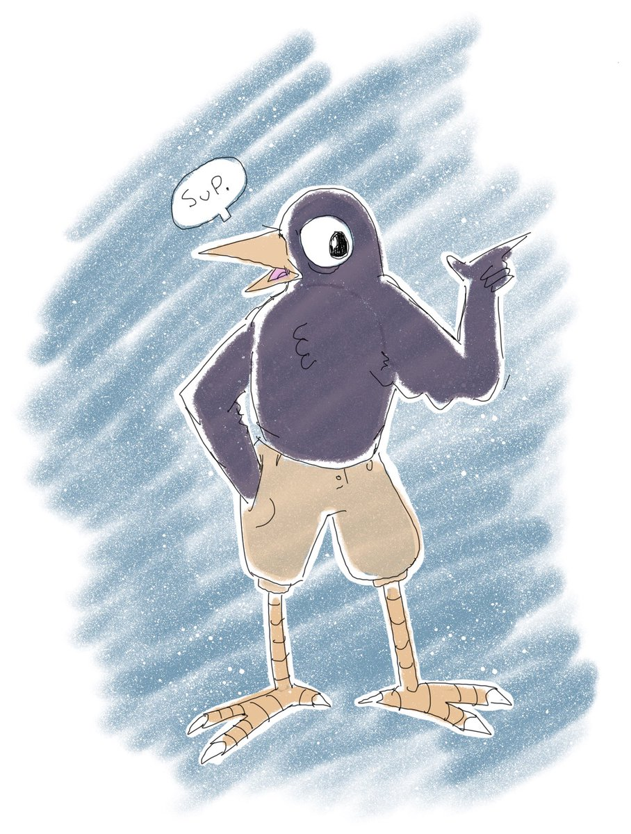 I saw an old victorian picture of a bird in shorts