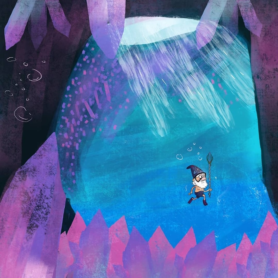 D'Angelo had always heard tales of the Crystal Caverns beneath the sea... he just never imagined they'd be so close to his own shores!