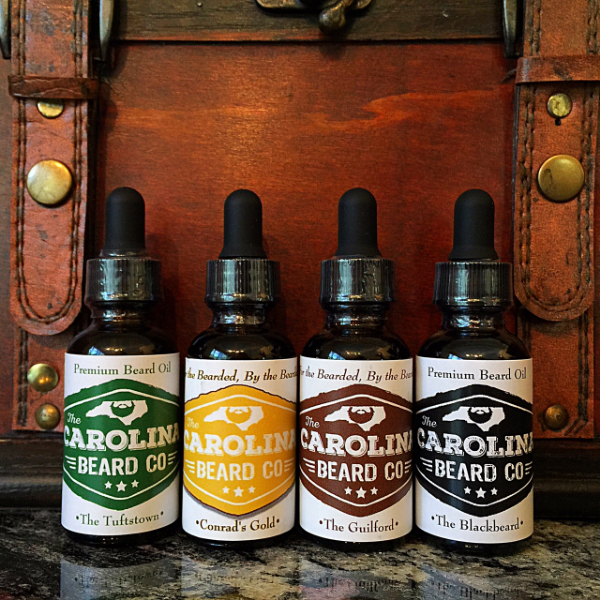 The Carolina Beard Co (L-R: The Tuftstown, Conrad's Gold, The Guilford & The Blackbeard)