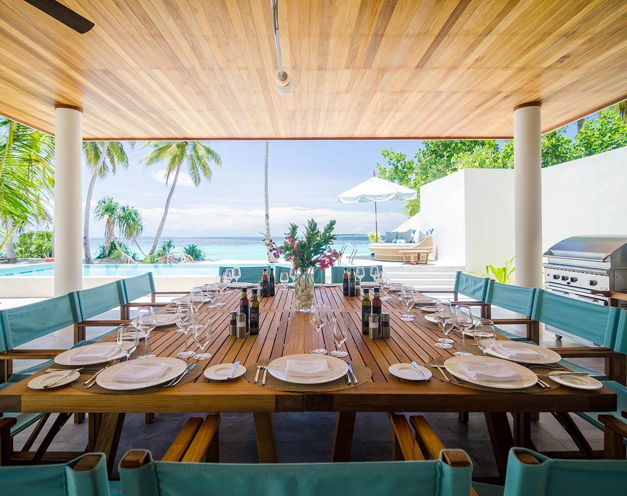 The Beach Residence's of Amilla Fushi are perfect for celebrations and gatherings with family or friends.