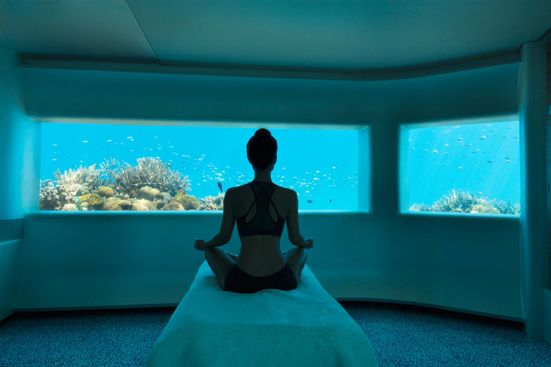 Huvafen Fushi's LIME Spa is an underwater haven for anyone seeking to relax and unwind.