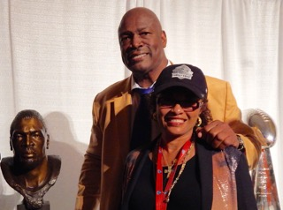 Dr. Brooks with Hall of Famer Charles Haley at his induction.
