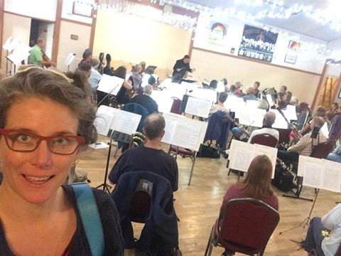 In rehearsal with the Sooke Philharmonic!