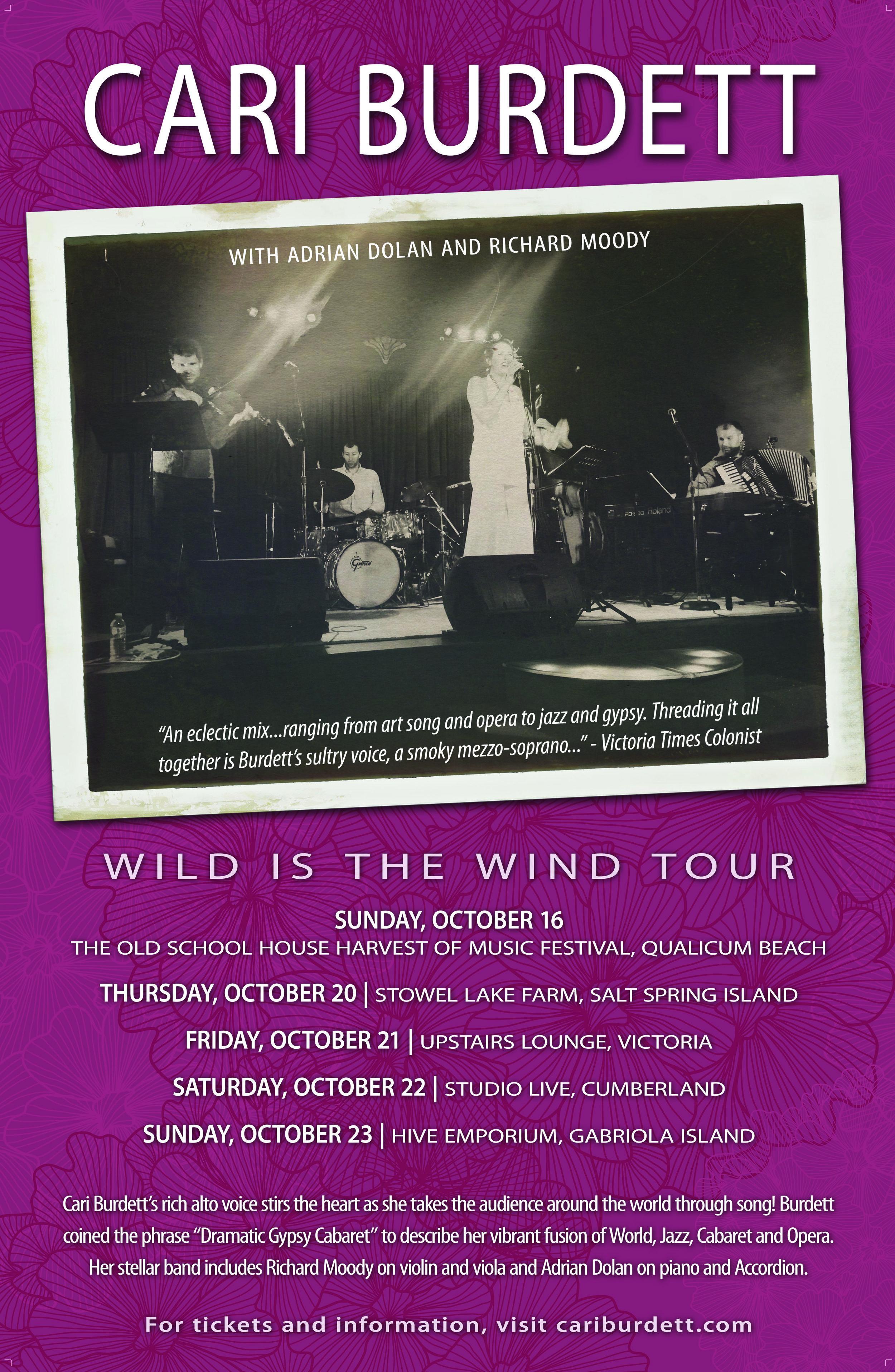 A 5 show tour across Vancouver Island!