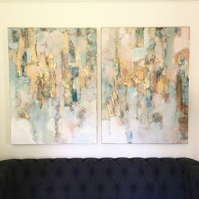 "Original art adds ""the feels"" (soul) to design. . . . . . . #art #soul #interior #interiordesign #home #housebeautiful #nashville #tn #paint #originalartwork #customart #customartwork #processart #intuitiveart"