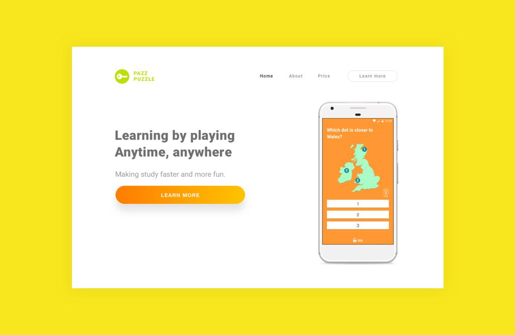 Daily UI #3 Landing page