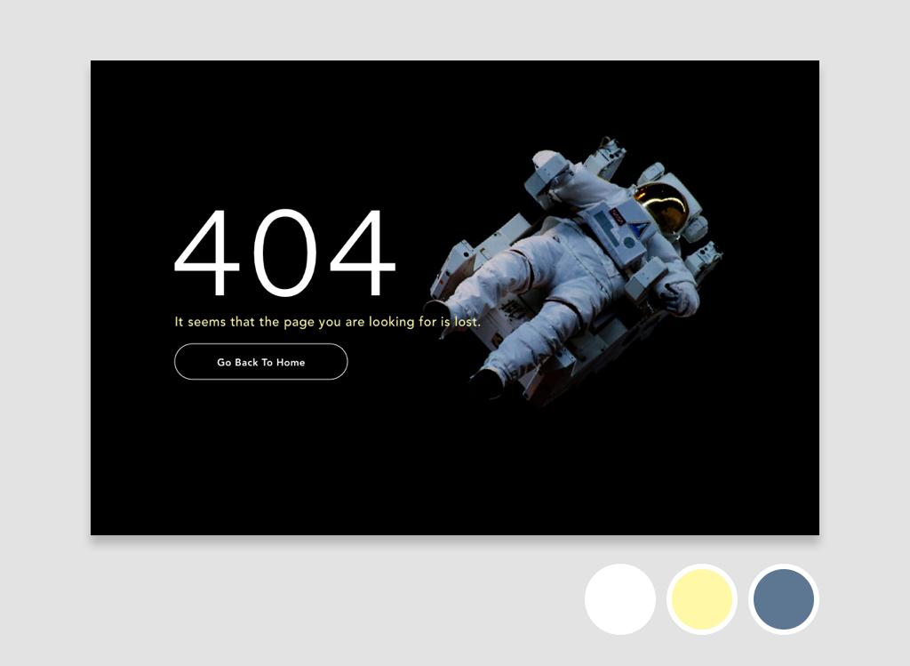 Daily UI #8 Error 404