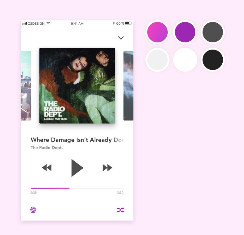 Daily UI #9 Music Player