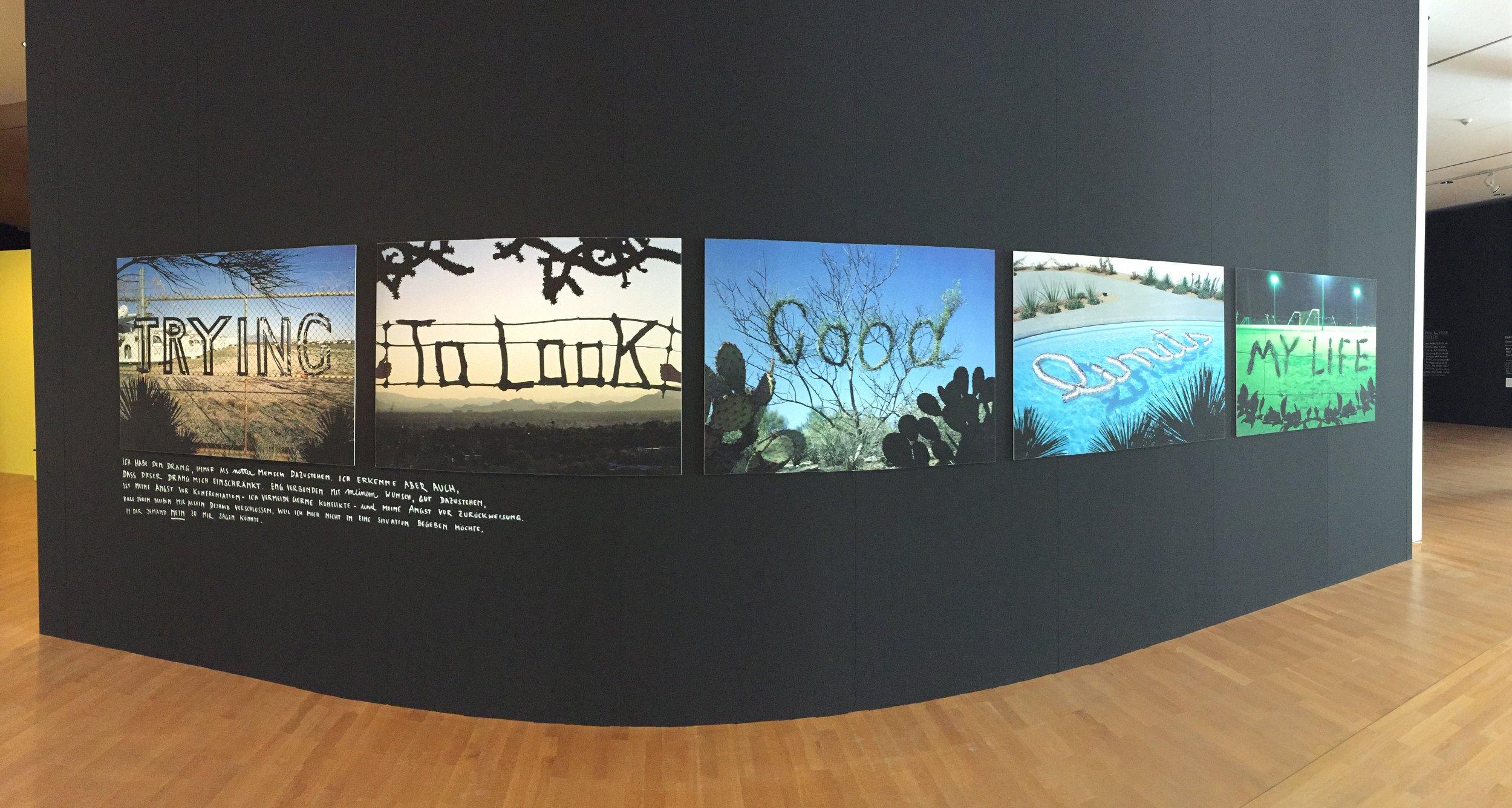Ein Objekt der Ausstellung: Trying to look good limits my life