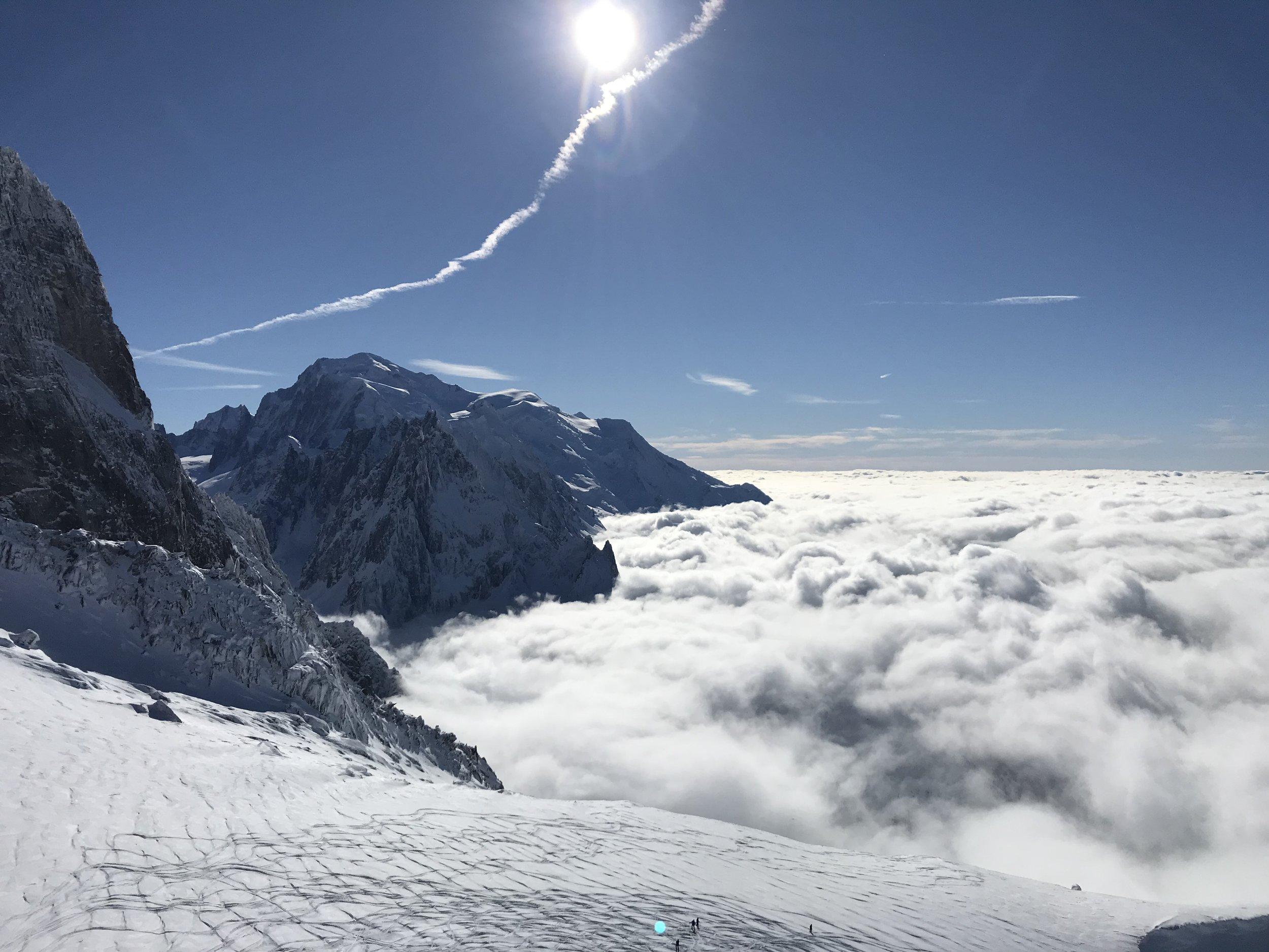 Mont Blanc und seine Gletscher.