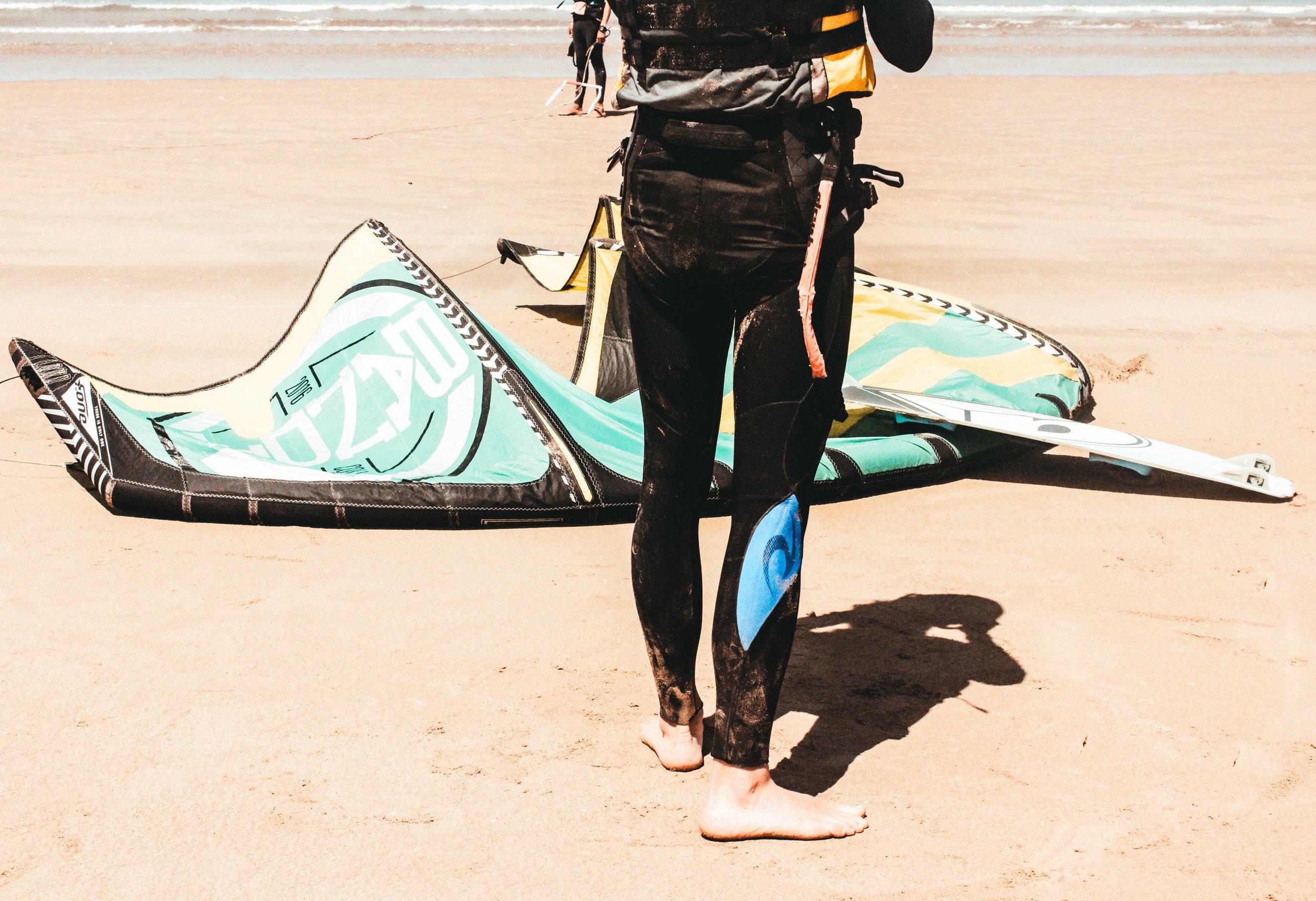 Kitesurf wing