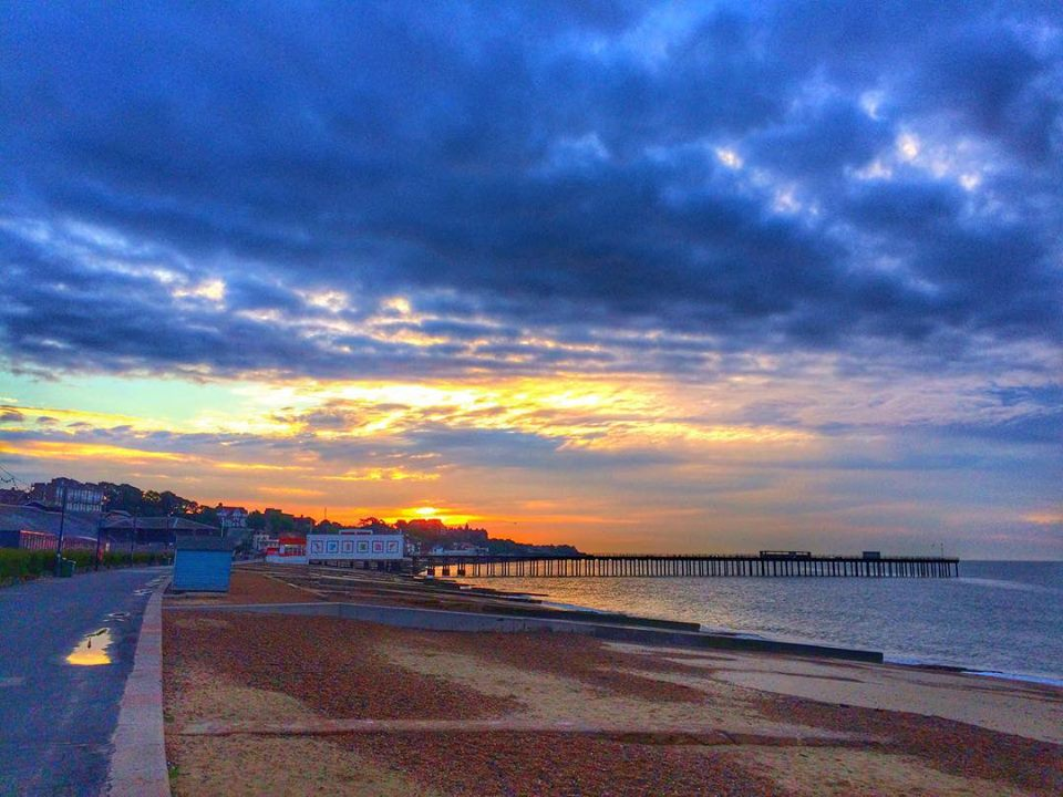 Felixstowe early evening after a rainy day