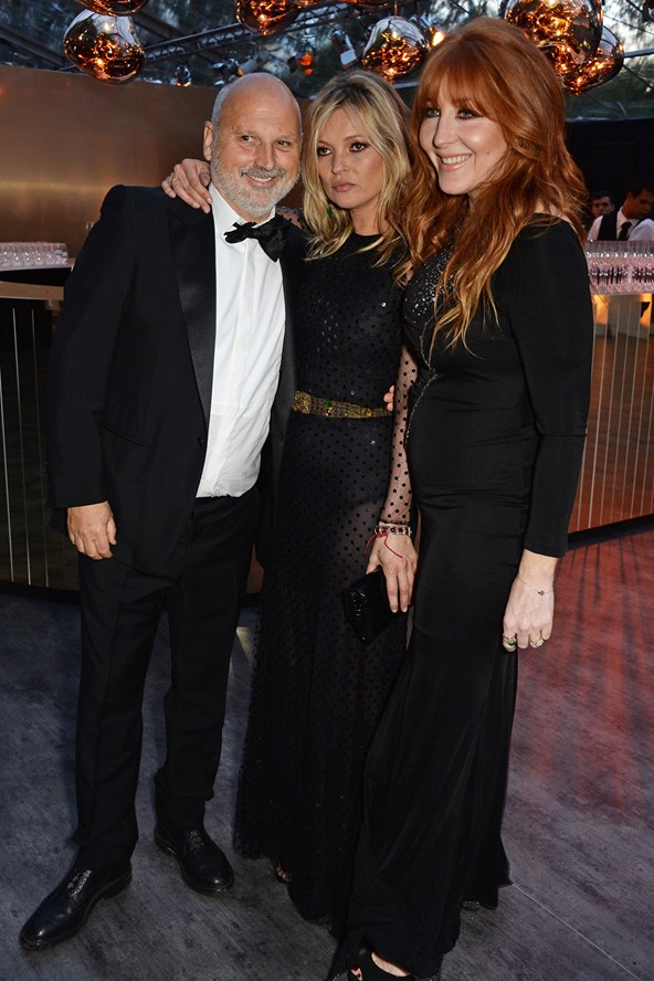 Vogue favourites Sam McKnight and Charlotte Tilbury enjoying the celebrations and looking incredible with Kate. This team has such inspiring creativity and talent, I always love seeing their work on the covers of Vogue.