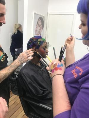 Cassie Lomas Makeup Academy BTS