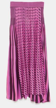 Zara Striped Midi Skirt- £49.99